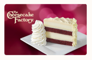Two Free Slices Of Cheescake For Every $250 Gift Card Purchased at Cheesecake Factory